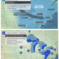 Blinding Lake-effect Snow, Bitterly Cold Winds to Cause Thanksgiving Travel Delays
