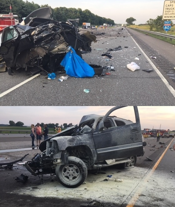Wrong-Way Driver On Indiana Toll Road Causes Four Vehicle