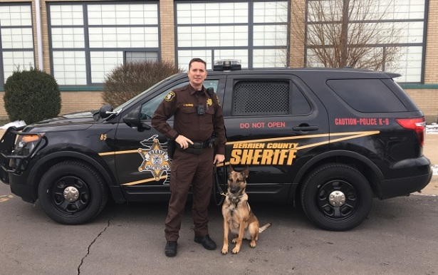 K-9 Mika with Deputy Jason Haskins